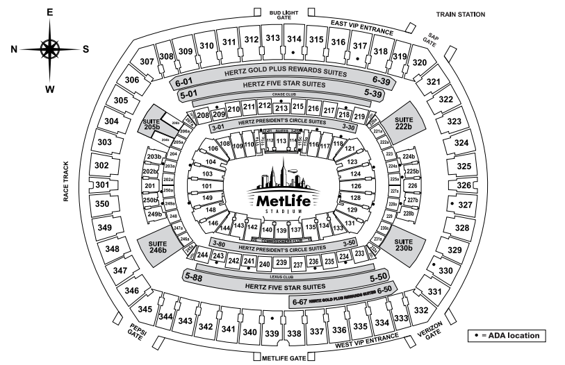 Seating Diagram
