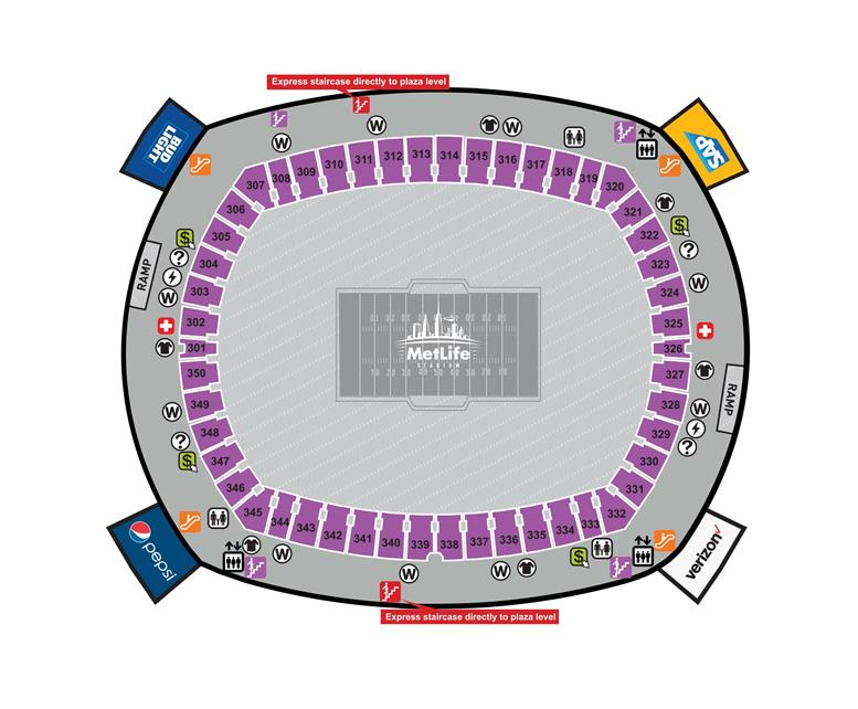 300 Level Concourse Map