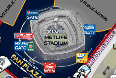 Super Bowl Exterior Map