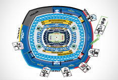 Super Bowl Seating Bowl