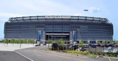 New York Giants and Jets The Meadowlands Stadium Hwy Metal sign your house